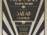 Great Gatsby Party Invitation Wording Items Similar to Great Gatsby Invitations Gatsby Style