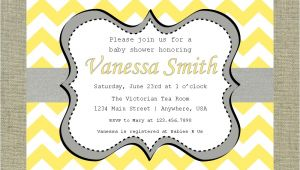 Grey and Yellow Baby Shower Invites Yellow and Grey Baby Shower Invitations Dolanpedia