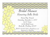 Grey and Yellow Bridal Shower Invitations Bridal Shower Invitation Yellow and Grey Floral 5 Quot X 7