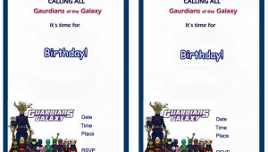 Guardians Of the Galaxy Birthday Invitation Template Guardians Of the Galaxy Birthday Invitations Birthday