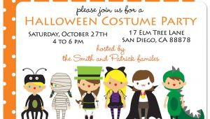 Halloween Birthday Party Custom Invitations Party Invitations Custom Party Invitations Cartoon Ideas