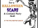 Halloween Party Invite Template Free Halloween Printable Skeleton Invite Diy Halloween