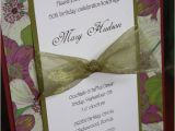 Handmade 50th Birthday Invitation Ideas Handmade Floral Birthday Invitations Layout Fun