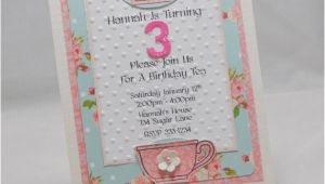 Handmade Tea Party Invitation Ideas Handmade Tea Party Invitations Set Of 10