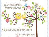Happi Tree Baby Shower Invitations 20 Happi Tree Owl Baby Shower Invitations Envelopes by
