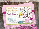 Happi Tree Baby Shower Invitations Happi Tree forest Baby Shower Invitation Digital Download or