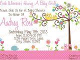 Happi Tree Baby Shower Invitations Owl Happi Tree Baby Shower Invitation Print by