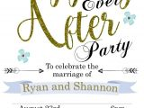Happily Ever after Party Invitations Elopement Party Invitations Reception Only Invitations
