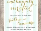 Happily Ever after Party Invitations Engagement Party Invitation Printable Engagement Party