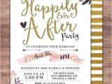 Happily Ever after Party Invitations Happily Ever after Invitation Boho Wedding Shower