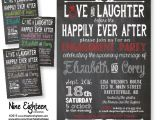 Happily Ever after Party Invitations Items Similar to Love Laughter before Happily Ever after