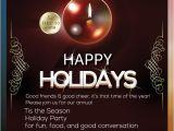 Happy Holidays Party Invitation Happy Holidays Flyer Christmas Dinner Invitation Elegant