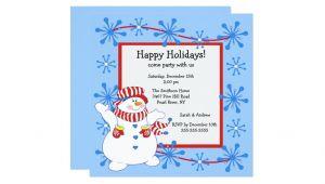 Happy Holidays Party Invitation Snowman Happy Holiday Christmas Party Invitation Zazzle
