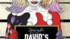 Harley Quinn Birthday Invitations Harley Quinn Custom Digital Printable Birthday Party