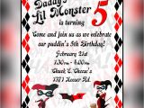 Harley Quinn Birthday Invitations Harley Quinn Invitation by Arctcdesigns On Etsy