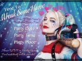 Harley Quinn Birthday Invitations Harley Quinn Party Invitation Digital File Customized Party