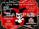 Harley Quinn Birthday Invitations Items Similar to Harley Quinn Invitation Birthday