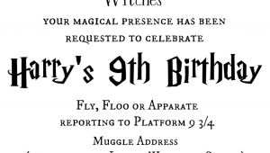 Harry Potter Birthday Invitation Template Tattered and Inked Harry Potter Party Free Printables and