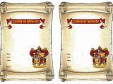 Harry Potter Birthday Invites Free Printables 9 Best Of Harry Potter Invitation Printables Free