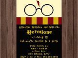 Harry Potter Party Invitation Template Harry Potter Birthday Invitation Gryffindor Digital File