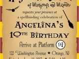 Harry Potter Party Invitation Template Harry Potter Birthday Party Invitation Customized
