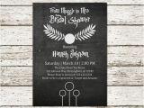 Harry Potter themed Bridal Shower Invitations Harry Potter Bridal Shower Wedding by Sweetteaandacactus