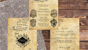 Harry Potter Wedding Invitation Template Free Harry Potter Wedding Invitation Diy Printable Template