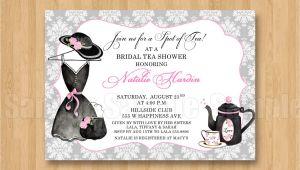 Hat Bridal Shower Invitations Tea Fancy Hat Dress Birthday Bridal Shower Personalized