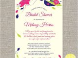 Hat themed Bridal Shower Invitations Big Hats and Fascinators Custom Bridal Shower Invitation