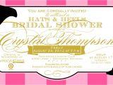 Hat themed Bridal Shower Invitations Bridal Shower Invitations Bridal Shower Invitations Hat theme