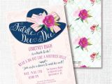 Hat themed Bridal Shower Invitations Fiddle Dee Dee Big Hat Bridal Shower Invitation by