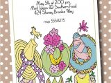 Hat themed Bridal Shower Invitations Kentucky Derby Day Hats Party Invitations Perfect for