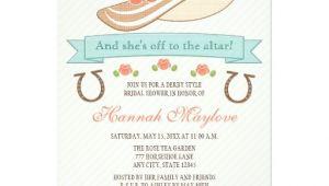 Hat themed Bridal Shower Invitations Kentucky Derby Hat Bridal Shower Invitation