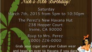 Havana Nights Party Invitation Havana Nights Birthday Invite Digital