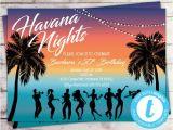 Havana Nights Party Invitation Template Havana Nights Birthday Invitation Cuban Party Tropical Etsy