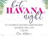 Havana Nights Party Invitation Template Havana Nights Invitation Hot Havana Nights theme In