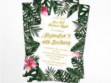 Havana Nights Party Invitation Template Havana Nights Tropical Birthday Invitation Printable Etsy