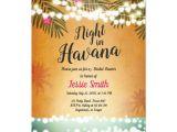 Havana Nights Party Invitation Template Night In Havana Bridal Shower Invitation Hot Night