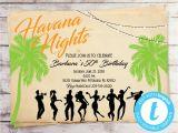 Havana Nights Party Invitation Template Vintage Havana Nights Birthday Invitation Havana Nights Etsy