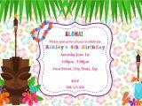 Hawaiian Birthday Party Invitations Templates Free 20 Luau Birthday Invitations Designs Birthday Party