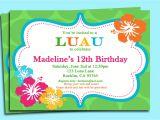 Hawaiian Birthday Party Invitations Templates Free 9 Best Images Of Free Printable Luau Invitations Free
