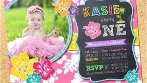 Hawaiian First Birthday Invitations 25 Best Ideas About Luau Birthday Invitations On