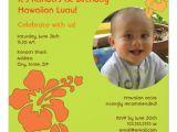 Hawaiian First Birthday Invitations Hawaiian Luau First Birthday Photo Invitation 5 25 Quot Square