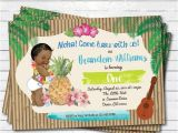 Hawaiian First Birthday Invitations Items Similar to Hawaiian Luau Boy 1st First Birthday
