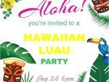 Hawaiian Party Invitation Template Cool Free Hawaiian Party Invitation Templates Pictures