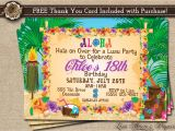 Hawaiian Party Invitations Free Printable Hawaiian Party Invitation Luau Birthday Invitation Luau