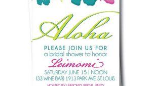 Hawaiian themed Bridal Shower Invitations Templates Items Similar to Hawaiian Bridal Shower Invitation
