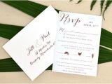 Hawaiian Wedding Invitations Styles Jill Paal Adori Designs Custom Wedding Invitations