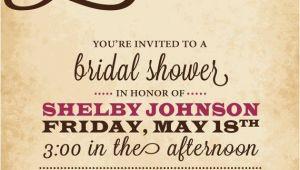 Heart themed Bridal Shower Invitations Rustic Bridal Shower Invitation Love Heart Black Pink