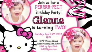 Hello Kitty 2nd Birthday Invitation Wording 2nd Birthday Invitations Ideas for Kids – Bagvania Free